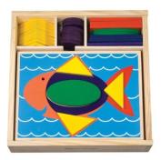 Melissa & Doug Toys - Beginner Pattern Blocks