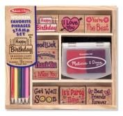 Melissa & Doug Favourite Phrases Stamp Set