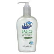 Dial Corporation 1700006028 Dial Basics Hypoallergenic Liquid Hand Soap, 220ml Pump Bottle
