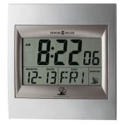 "TechTime II Radio-Controlled LCD Wall/Table Alarm Clock, 8-3/4""W x 1""D x 9-1/4""H"