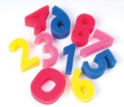 Sponge Numbers, 3 High, 0-9 Numbers, 10 Sponges/Pack. Includes 10 sponges numbered 0-9.