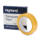 """Highland 591012592 Transparent Tape- 1"""" x 2592""""- 1"""" Core- Clear"""