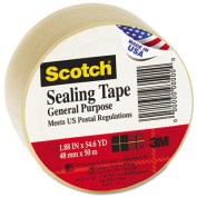 """General Purpose Packing Tape, 2"""" x 55 yards, 3"""" Core, Clear"""