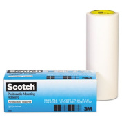 Positionable Mounting Adhesive, 24 in x 50 ft, Clear