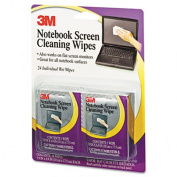 Notebook Screen Cleaning Wet Wipes, Cloth, 7 x 4, White, 24/Pack
