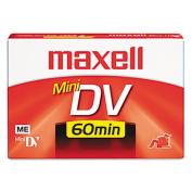 Premium Grade Mini DV Camcorder Tape Cassette, 60 Minutes