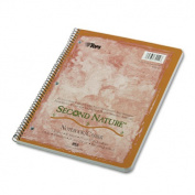 Second Nature Subject Wirebound Notebook, Quadrille Rule, Ltr, WE, 80-Sheet, Sold as One Each