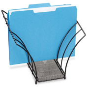 Butterfly File Sorter, Five Sections, Mesh, 12 1/4 x 7 3/4 x 10 1/8, Black