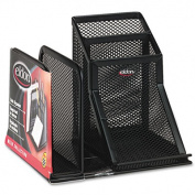Wire Mesh Desk Organizer with Pencil Storage, 5 3/4 x 5 1/8 x 5 1/8, Black