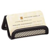 Rolodex 22251ELD Mesh Business Card Holder Capacity 50 2 1/4 x 4 Cards Black