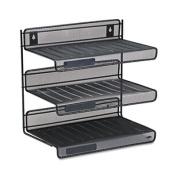 Mesh Three-Tier Letter Size Desk Shelf, 12 1/2 x 9 1/4 x 12 1/2, Black
