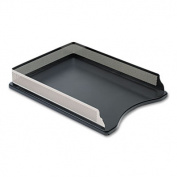 Rolodex E23565 Distinctions Self-Stacking Letter Desk Tray- Metal- Black