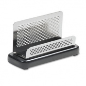 Rolodex E23578 Distinctions Business Card Holder Capacity 50 2 1/4 x 4 Cards Black