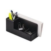 Rolodex 62537 Wood Tones Desk Organizer Wood 4 1/4w x 8 3/4d x 4 1/8h Black