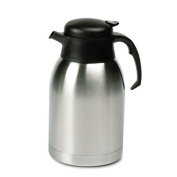 Hormel SVC190 Stainless Steel Lined Vacuum Carafe 1.9 Liter Satin Finish/Black Trim