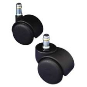 Safety Casters, 100 lbs./Caster, Nylon, B Stem, Hard, 5/Set