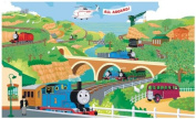 Roommates YH1418M Thomas the Train Chair Rail Prepasted Mural 6 ft x 10 ft