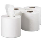 SCOTT Center-Pull Paper Roll Towels, 8 x 15, White, 500/Roll, 4 Rolls/Carton
