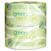 Green Heritage Bathroom Tissue, 2-Ply, 500 Sheets, White, 48 per Carton
