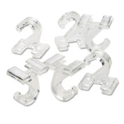 Adams Manufacturing Clear Plastic Ceiling Hooks, 5/16 x 3/4 x 1-3/8, 6 Hooks/Pack