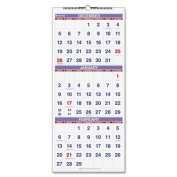 Three-Months-per-Page 14-Month Wall Calendar, Vertical Format, 12 x 27
