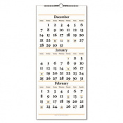 Three-Months-per-Page Reference Wall Calendar, Vertical Format, 12-1/4 x 27