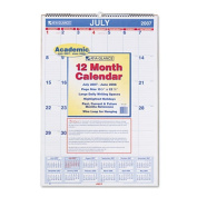 Ruled Daily Blocks Monthly Wall Calendar, July-June, 15-1/2 x 22-3/4