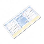 QuickNotes Horizontal Three-Months-per-Page Wall Calendar, 23-1/2 x 12
