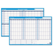 At-A-Glance PM23928 90-/120-Day Format Reversible/Erasable Undated Wall Planner 36 x 24