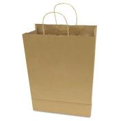 Premium Small Brown Paper Shopping Bag, 50/Box