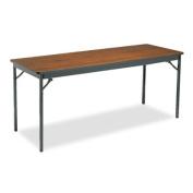 Special Size Folding Table, Rectangular, 72w x 24d x 30h, Walnut/Black
