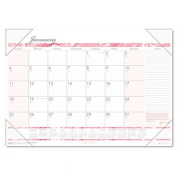 House of Doolittle HOD1466 Desk Pad- Breast Cancer- 12 Mth- Jan-Dec- 18-.50in.x13in.- Pink-White