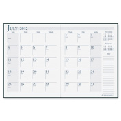 House Of Doolittle 26104 14-Month Academic Economy Planner 8-1/2 x 11 Burgundy Cover White/Gray Pages