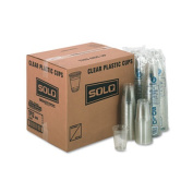 Plastic Party Cold Cups, 12oz, Clear, 50/Bag, 20 Bags/Carton