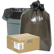 Classic Clear Opaque Brown/Black Low-Density Can Liners, 117.3-124.9l 250 ct