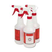 UNISAN 03010 Plastic Sprayer Bottles- 24 oz.- 3 Bottles/Pack