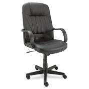 Sparis Series Executive High-Back Swivel/Tilt Chair, Leather, Black