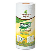 Marcal Paper Mills- Inc. MRC6709 Paper Towels- 2-Ply- 11in.x9in.- 60 Sheets-Roll- 15 Rolls-CT- White