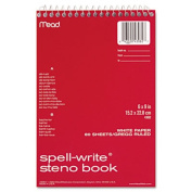 Spell-Write Steno Book, Gregg Rule, 6 x 9, Green, 80 Sheets