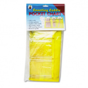 Counting Caddie w/200 Counting Straws, 30 Number Cards, Guide, 12 1/2 x 9 1/2. Includes pocket chart, resource guide, 200 counting straws, 30 number cards.