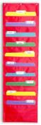 Carson-Dellosa Publishing CDPCD5653 Storage Pckt Chart- 14in.x46-.50in.- 10 Fabric Pckts 13-.50in.x7in.- RD