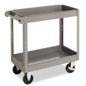 Tennsco SC2436 Two-Shelf Metal Cart 2-Shelf 24w x 36d x 32h Gray
