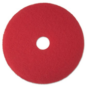 3M 08387 Buffer Floor Pad 5100 12 in. Red 5 Pads-Carton