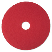 3M 08392 Buffer Floor Pad 5100 17 in. Red 5 Pads-Carton