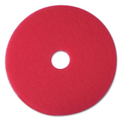 3M 08395 Buffer Floor Pad 5100 20 in. Red 5 Pads-Carton
