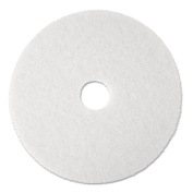 3M 08477 Super Polish Floor Pad 4100 13 in. White 5 Pads-Carton