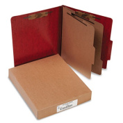 """Acco Brands, Inc. Classification Folder W/Fastener,Ltr,3"""" Exp,2 Partition,Red"""