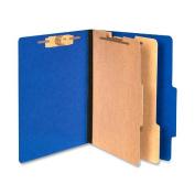 Presstex Colorlife Classification Folders, Letter, 6-Section, Dark Blue, 10/Box