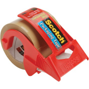 "3850 Heavy-Duty Packaging Tape in Sure Start Disp., 1.88"" x 22.2yds, Tan"
