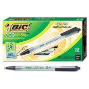 Ecolutions Clic Stic Ballpoint Retractable Pen, Black Ink, Medium, Dozen